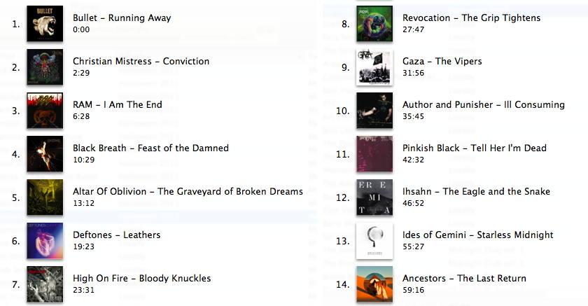 Halloween 2012 tracklist